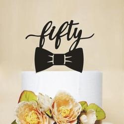 Акриловый Топпер для торта в форме лука, 50 дней рождения