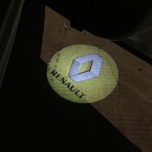 1/2 шт. автомобильный беспроводной светодиодный проектор Тени шаг вежливости светильник s добро светильник для Renault Megane 2 Duster Logan Captur Clio Laguna