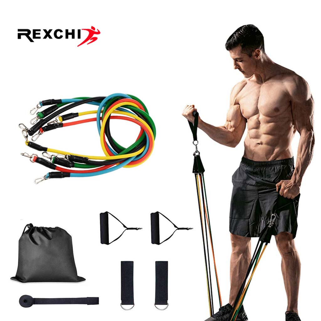 REXCHI Gym Fitness Resistance Bands Set Hanging Belt Yoga Stretch Pull Up Assist Rope Straps Crossfit Training Workout Equipment