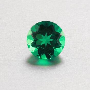 Starszuan Jewel high quality hydrothermal emerald 8mm round cut gemsone for jewelry making