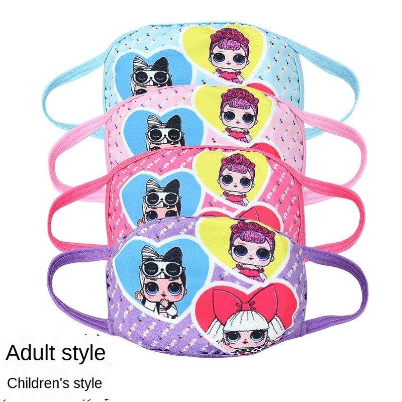 News LOL Surprise Cartoons Dustproof Cute Adult Children Kids Mask Print Face Masks Reusable  Mask Fabric Dust Masks For Gift