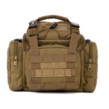 TOP!-Sea/Carp/Fly Fishing Tackle Bag Waterproof Storage Waist Shoulder Carry Case sandy(China)