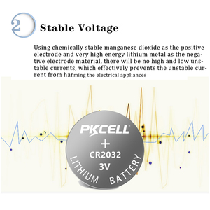 Image 3 - 40 قطعة PKCELL CR2032 3 فولت بطاريات زر BR2032 DL2032 ECR2032 خلية عملة ليثيوم بطارية 3 فولت CR 2032 pilالنسخة as بطاريات
