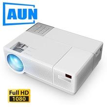 AUN Full HD Projector D70, Native 1920x1080P, 6,800 Lumen, Multimedia System Vid