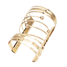 MANILAI Alloy Statement Cuff Bracelets Bangles Women Fashion