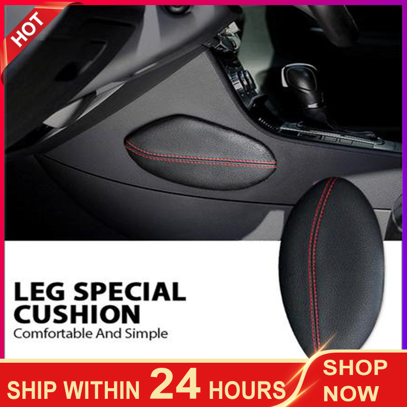 1pc car seat cushion foot support pillow leg support car seat cushion Leather Leg Cushion Knee Pad Thigh Support Pillow