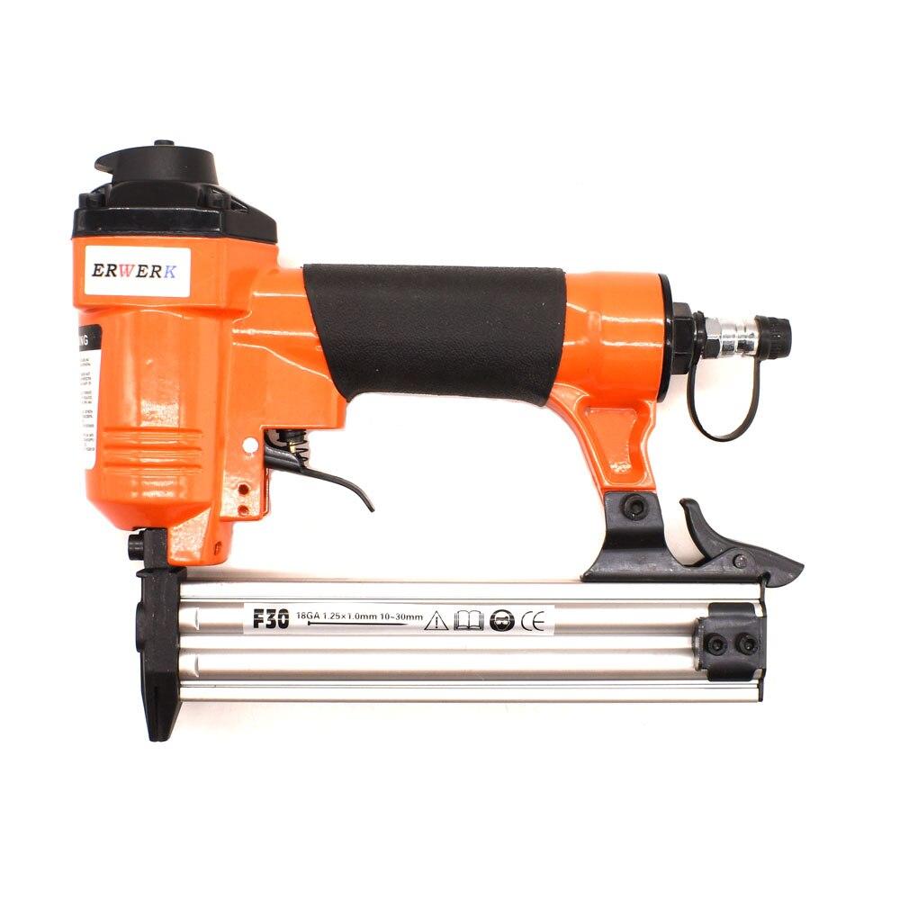 Tools : 18GA Pneumatic Brad Nailer F30 Air Nails Gun For Furniture WoodWorking