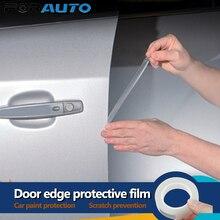 Araba kapı kenar koruma boya koruyucu Film Anti scratch Wrap Sticker Styling profiller evrensel 1.5cm x 5m kapı scratch koruyucu