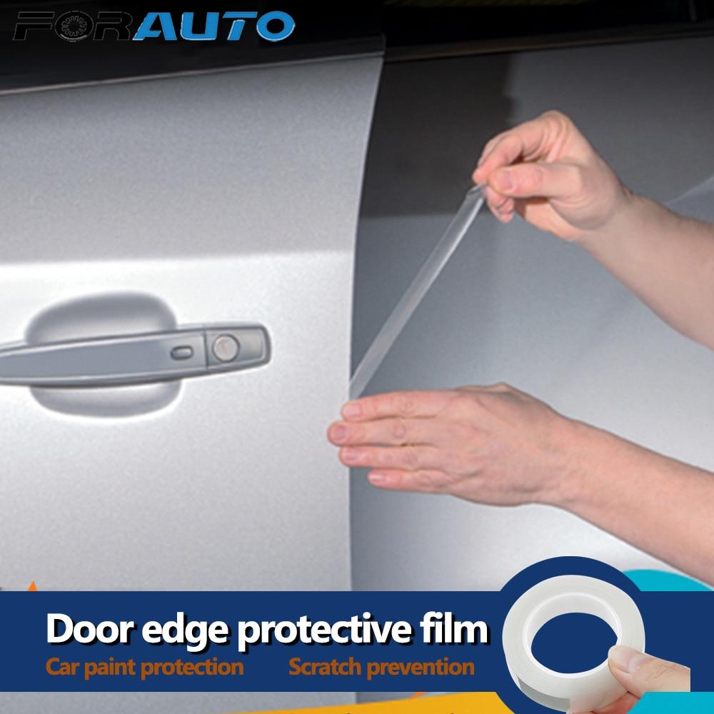 Amber Car Door Protectors Reflectors Door Guards Prevent Scratches Protect Edges