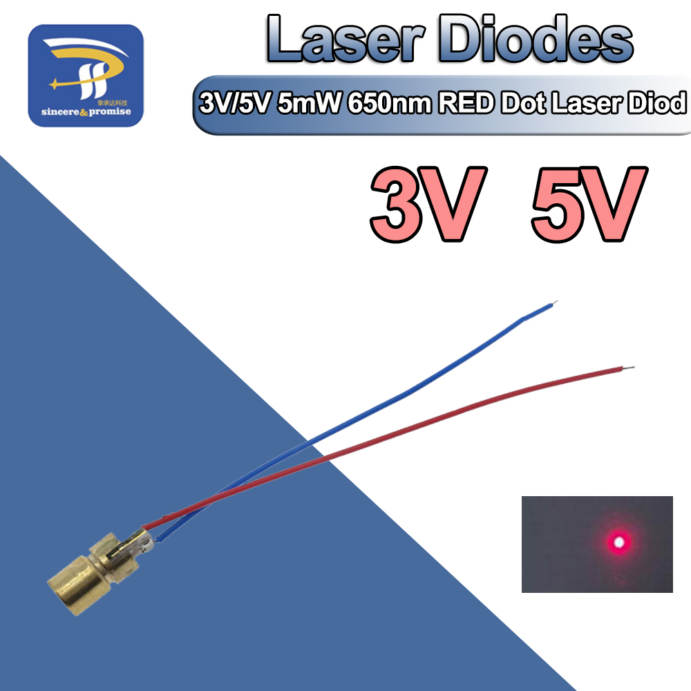 Laser Emitter Diode Module 650nm Red Arduino AVR PIC Dot 5V USA SHIP TODAY 5PCS