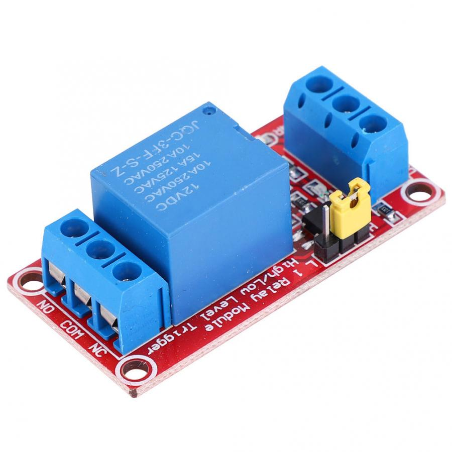4pcs 12V 1-Channel Relay Module with Optocoupler Isolation High//Low Level Trigger for Arduino bistable Relay Relay Module
