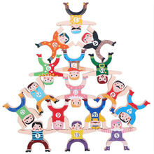 Toys Balance Stacking Educational-Toys Wooden High-Blocks Children's for Acrobatic Hercules