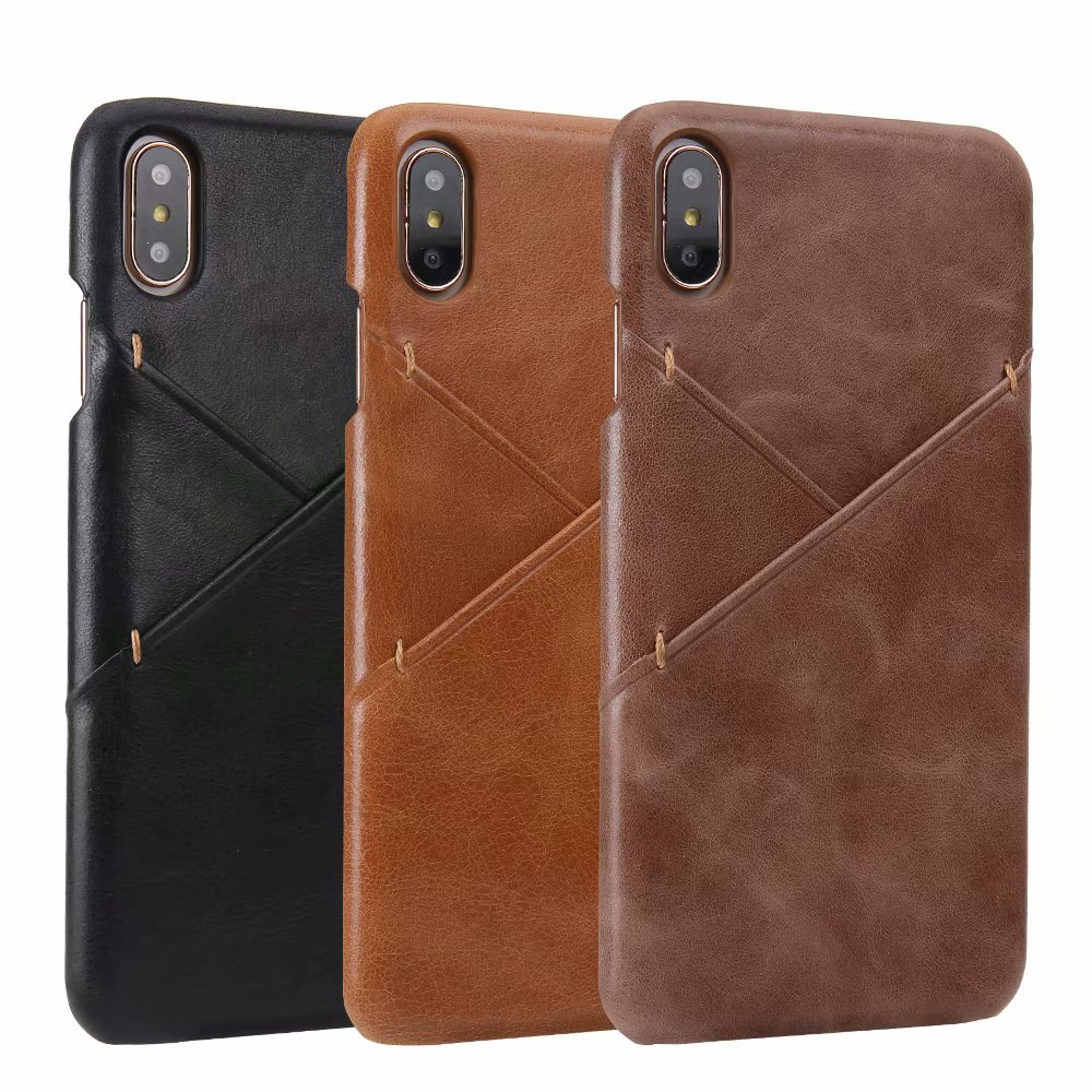 High quality leather cowhide matte Phone Case For iPhone 11 Pro MAX Slim Wallet Card Back Cove For iPhone X XR XS MAX 8 7 6 6S image