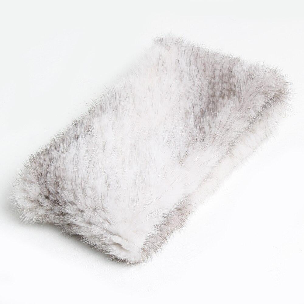 Image 3 - Fashion Lady Real Mink Fur Scarf Headbands Winter Warm Genuine Mink Fur Ring Scarves Luxury Natural Fur Neck Warmer MufflersWomens Scarves   -