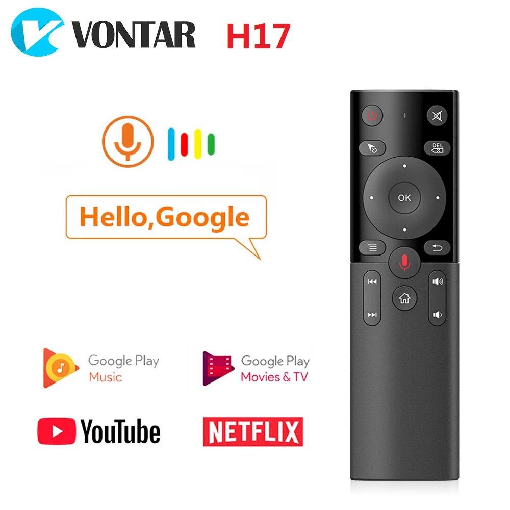 Vontar h17 g20 voz controle remoto 2.4g mouse de ar sem fio com ir aprendizagem microfone giroscópio para android caixa tv mini pc
