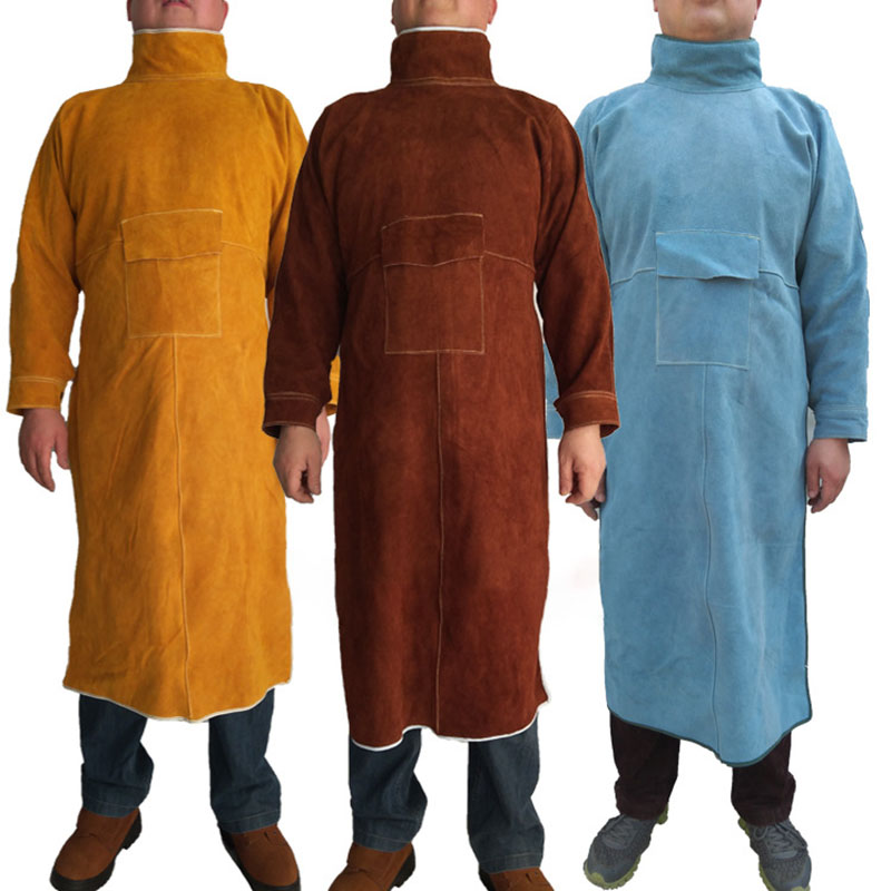 Tools : Cowhide Work Clothes Apron Welding Protective Clothing Heat and Fire Resistant Welders Safety Clothing  Welding Apron