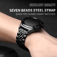 20mm pasek do zegarka 22mm dla HUAWEI zegarek 2/zegarek GT /GT 2 ze stali nierdzewnej bransoletka zamienna dla Samsung biegów S2/S3/ amazfit Stratos 2 w Paski do zegarków od Zegarki na
