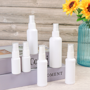 1 non-toxic odorless safe and refillable white plastic travel bottle atomizer empty perfume bottle flask with small sprayer