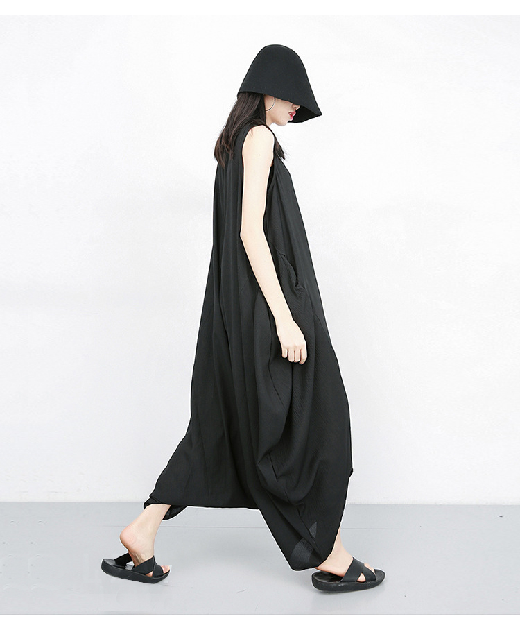 New Fashion Jumpsuit Baggy Unique Loose Style Ladies Overalls Harem Pants