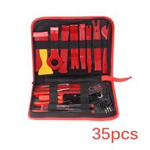 Kit de mantenimiento de Audio para coche Kit de reparación de Panel estéreo de DVD para coche, barra de palanca extractora, Panel embellecedor de puerta de Radio de salpicadero, juego de herramientas, 11/22/28/35 Uds.