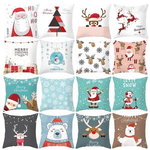 FENGRISE Merry Christmas Decor For Home Santa Claus Elk Pillowcase Christmas Ornament 2019 Navidad Xmas Gift Happy New Year 2020(China)