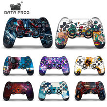 Data Frog Protective Cover Sticker For PS4 Controller Skin For Playstation 4 Pro Slim Decal Accessories 15 Styles(China)