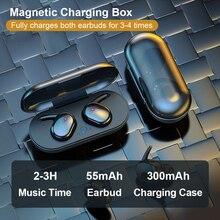 Mini çift TWS Bluetooth 5.0 kulaklık gerçek kablosuz kulaklıklar 3D Stereo ses kulakiçi çift mikrofon şarj kutusu ile