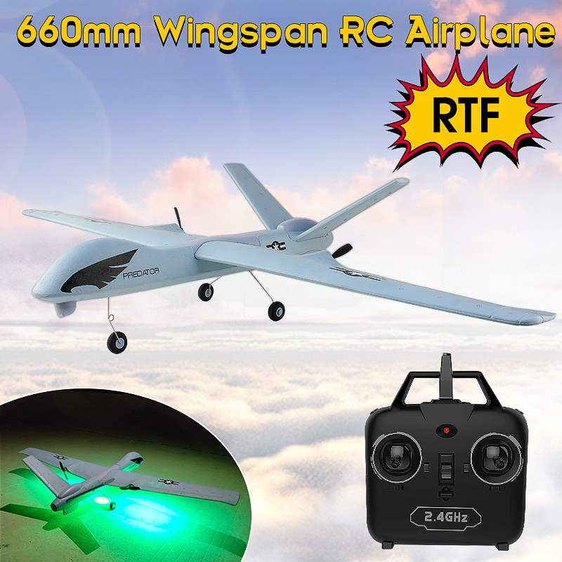 RC Airplane Z51 Predator Wireless Control RC Plane 2.4G 2CH 660mm Wingspan EPP DIY Glider RTF Built-in Gyro Plane Model for Kids image