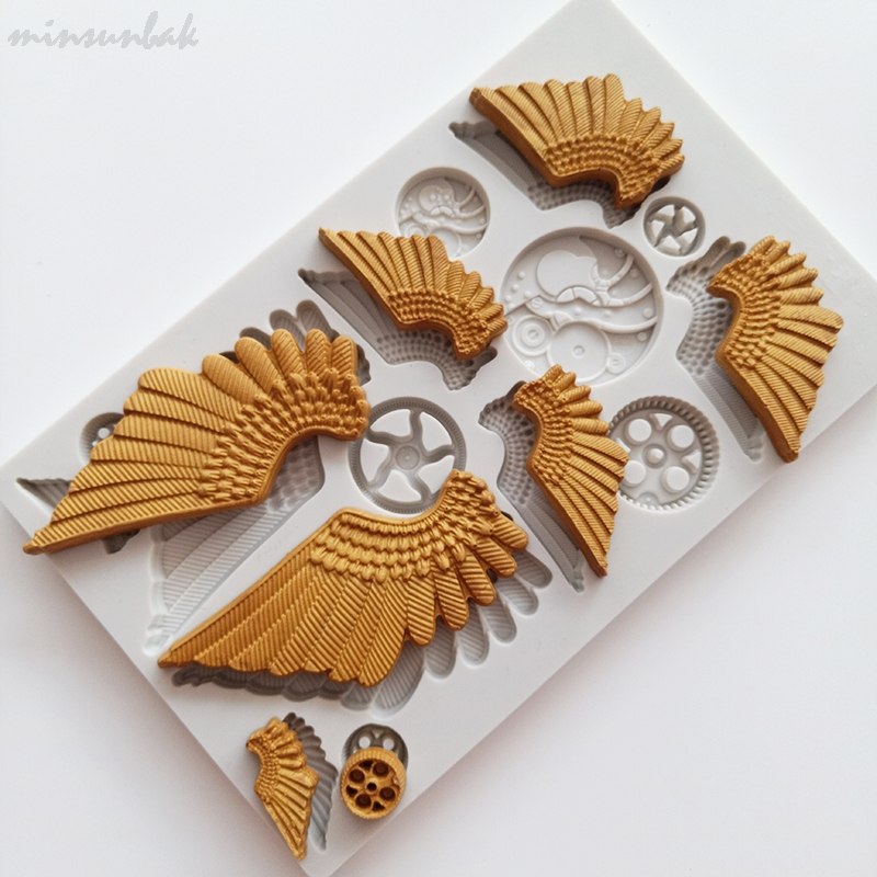Angel Wings Silicone Mold Fondant Mold Cake Decorating Tool Chocolate Mould GVUS