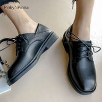 2020 preppy style women Oxford shoes new years spring laced up casual shoes street school plus size young ladies office commuter
