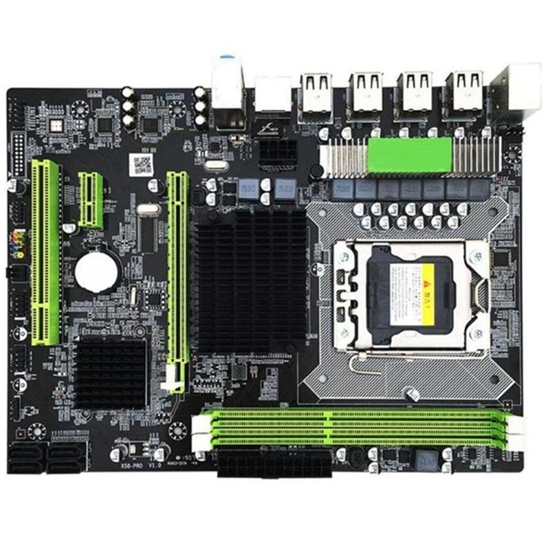 X58 Pro Lga 1366 Socket Desktop Motherboard With Ddr3 For E5502 L5506 W3503 Ec3539 Lc3528 2Xddr3 Dimm 1366Pin Gaming Mainboard