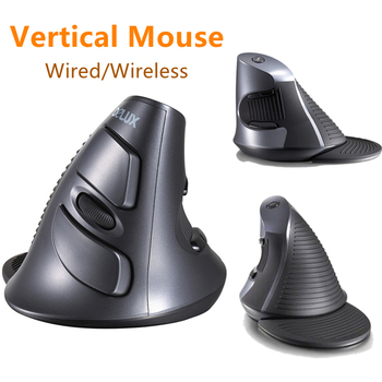 M618 ergonomiczny pulpit myszka pionowa pionowa bezprzewodowa mysz ergonomiczna 6 przyciski 1600DPI mysz optyczna na PC Laptop tanie i dobre opinie centechia CN (pochodzenie) wireless wired NONE LASER Zasilana akumulatorem Prawo Dropshiping Wholesale 135 5*100*87mm