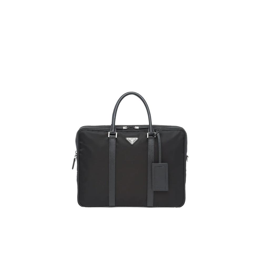 Prada Nylon Briefcase Business Handbag For Men Large Capacity Messenger Shoulder Bag 2VE005_064_F0002_V_OOO