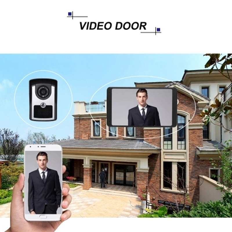 7 Inch TFT LCD Wireless WiFi Smart Video Door Phone Intercom System 1000TVL Wired Doorbell Camera