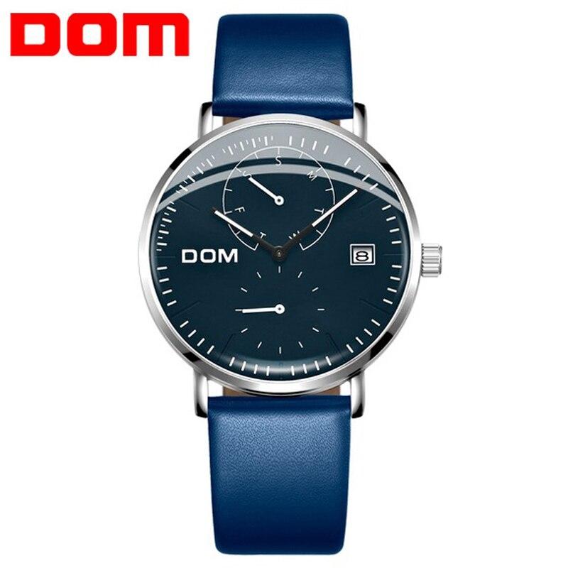 2020 DOM New Men Watch Blue Waterproof Calendar Quartz Watches Men's Business Casual Wristwatches For Man Clock Reloj Hombre