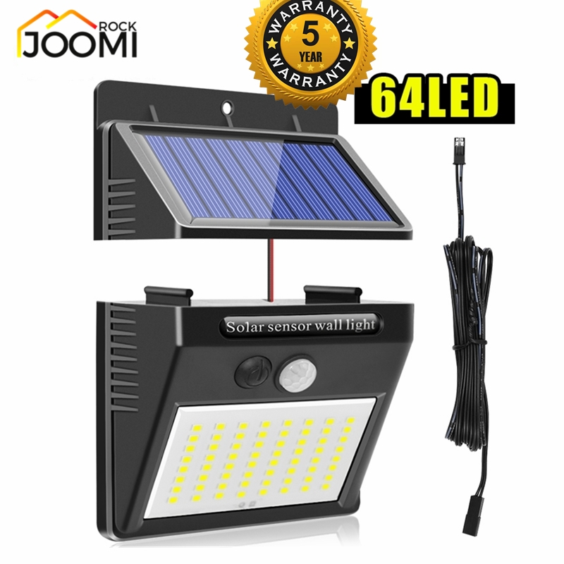 Separable 3 Mode 32/48/64 LED Outdoor Solar Wall Lamp PIR Motion Sensor Waterproof Light Garden Light Path Light Luminous Yard