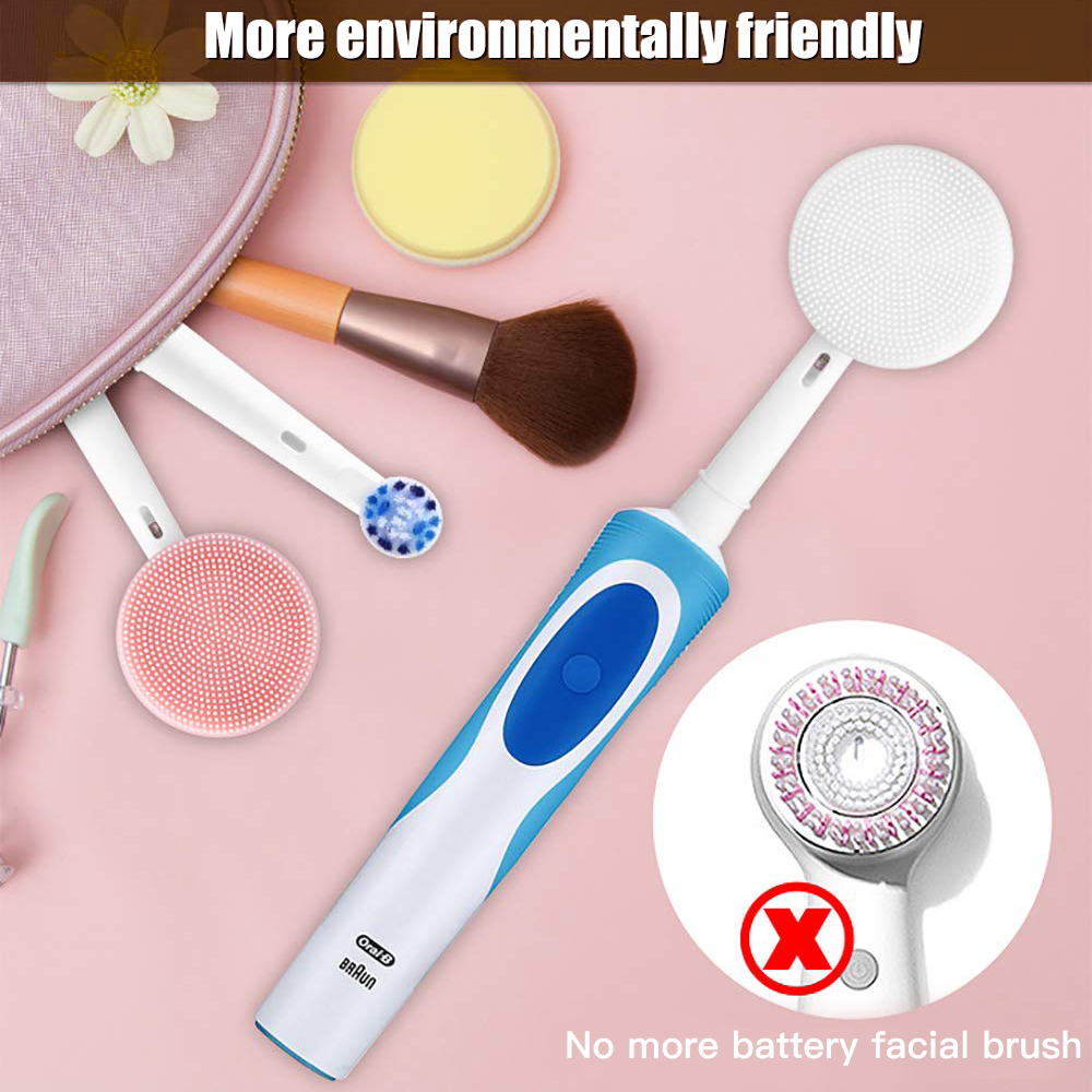 Facial Cleansing Brush Head Suitable For Oral-B Electric Toothbrush Handle Facial Massager And Cleanser Brush Heads