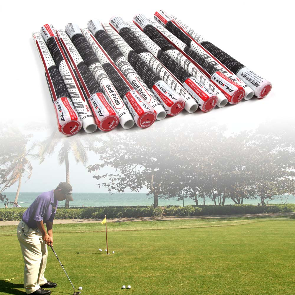 13PC Golf Grips For Golf Pride Multi Compound MCC ALIGN Standard Grips White-Black-Red