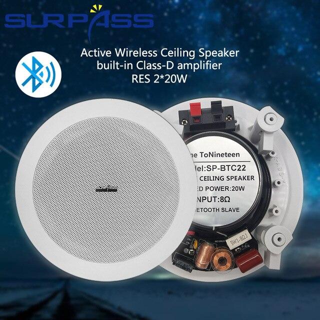 2pcs Wireless Bluetooth Ceiling Speaker 5.25