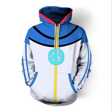 High Quality Pokemon Ash Ketchum Cosplay Costume Blue Jacket  Costumes