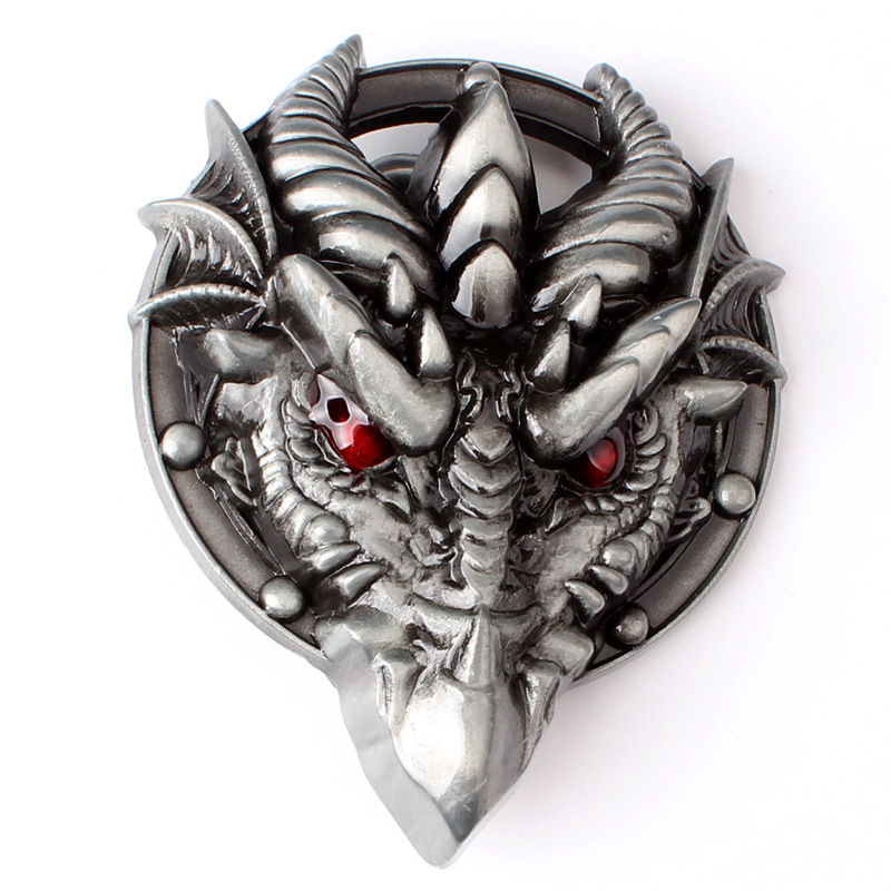 Dragon King Belt Buckle For 3.8cm 4cm Belt Homemade Handmade Belt Components Knight Heavy Metal Rock Buckle
