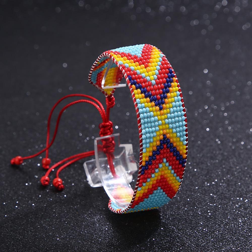 Этнический Плетеный женский браслет ручной работы в богемном стиле ретро хлопковая веревка Национальный браслет Ювелирные изделия Подарк...