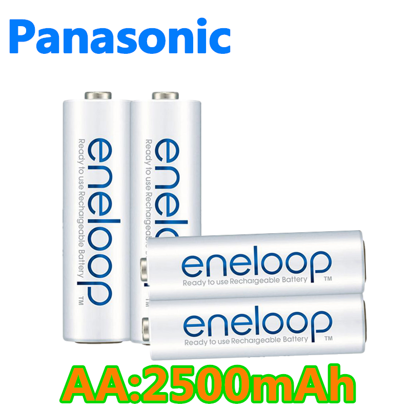 Panasonic Eneloop Original <font><b>AA</b></font> Rechargeable <font><b>Battery</b></font> <font><b>1.2V</b></font> 2500mAh Pre-charged <font><b>Ni</b></font>-<font><b>MH</b></font> <font><b>AA</b></font> <font><b>Batteries</b></font> for Camera Flashlight Toys image