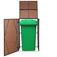 【USA Warehouse】Single Wheelie Bin Schuppen Poly Rattan 29.9