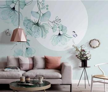 AINYOOUSEM 3D Wallpaper Modern tree flower background wall papier peint papel de parede wallpaper 3d wallpaper  wall paper beibehang custom size abstract space corridor white sphere 3d stereo tv background wallpaper papel de parede 3d papier peint