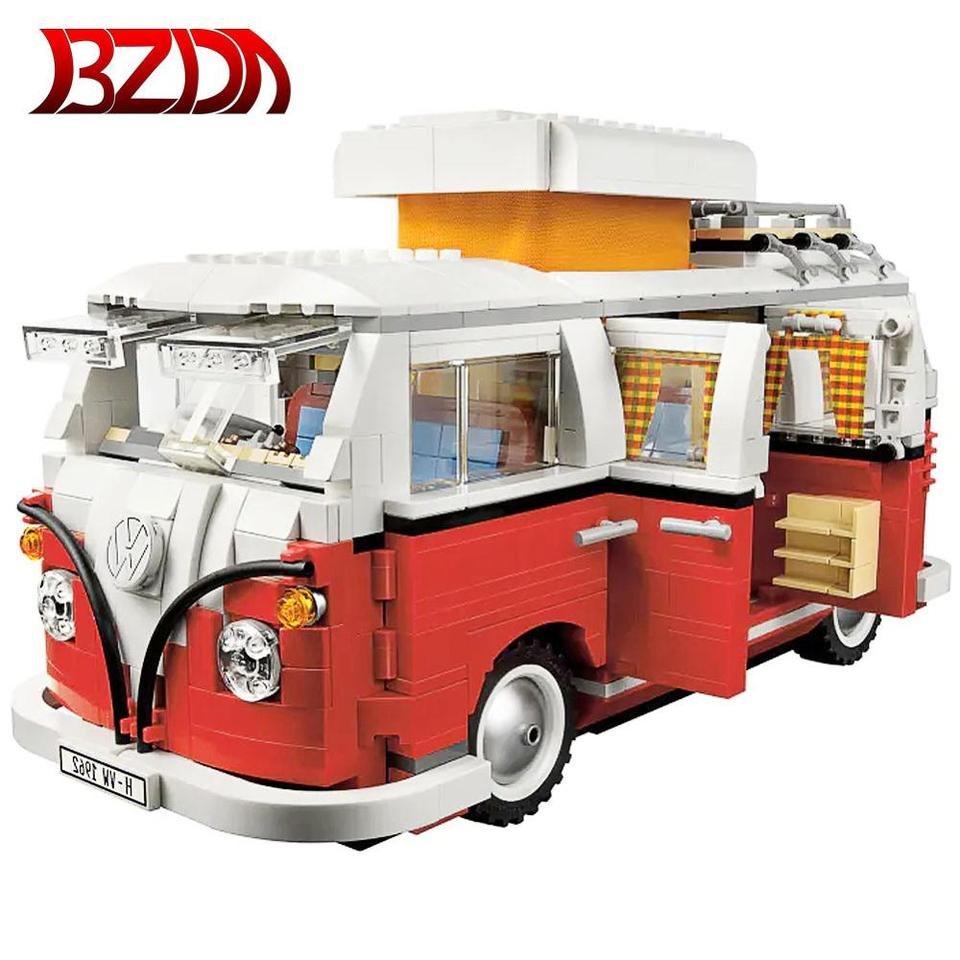Volkswagen T1 Series Technology Camper Compatible Lepining Car Building toys