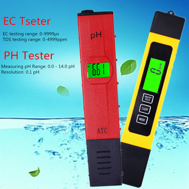 Digital PH /TDS/ EC Meter Tester  Thermometer Pen Water Purity  PPM Filter Hydroponic for Aquarium Pool Water Monitor 40% off 1