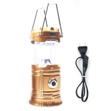 цена на LED Portable Lantern Solar Powered Flashlights Camping Rechargeable Hand Lamp for Hiking Outdoor Lighting Emergency