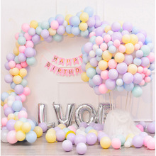 100pcs Macarons Color Pastel Candy Balloons  10 Inch Latex Round Helium For Kids Birthday Party Wedding Decor