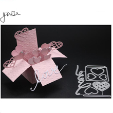 YINISE Metal Cutting Dies For Scrapbooking Stencils LOVE HEART BOX DIE CUT DIY Album Cards Decoration Embossing Folder Die Cuts yinise 1641 candy box metal cutting dies for scrapbooking stencils diy album cards decoration embossing folder die cuts cutter